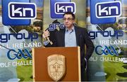 13 March 2019; Liam Daniels, Chairman of the All-Ireland GAA Golf Challenge, at today's launch of the 20th annual KN Group All-Ireland GAA Golf Challenge in St. Jude's GAA club. On August 9 and 10, the two-day event takes place in Concra Wood and Nuremore Golf Clubs in County Monaghan. Golfers will congregate to represent their GAA clubs in their hope of claiming All-Ireland glory while raising funds for much-needed GAA-associated charities such as Raharney youngster Fionn McAnaney. For more information follow @GolfGAA on Twitter or All-Ireland GAA Golf Challenge on Facebook. Photo by Matt Browne/Sportsfile