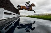 13 March 2019; Drinks Interval, with Richard Johnson up, clears the water jump during the RSA Insurance Novices' Chase on Day Two of the Cheltenham Racing Festival at Prestbury Park in Cheltenham, England. Photo by David Fitzgerald/Sportsfile