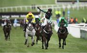13 March 2019; Nico de Boinville celebrates on Altior as they cross the line to win the Betway Queen Mother Champion Chase on Altior on Day Two of the Cheltenham Racing Festival at Prestbury Park in Cheltenham, England. Photo by David Fitzgerald/Sportsfile