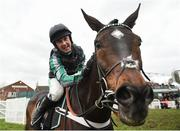 13 March 2019; Nico de Boinville celebrates on Altior after winning the Betway Queen Mother Champion Chase on Day Two of the Cheltenham Racing Festival at Prestbury Park in Cheltenham, England. Photo by David Fitzgerald/Sportsfile