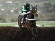 13 March 2019; Altior, with Nico de Boinville up, jumps the last, during the first circuit, on their way to winning the Betway Queen Mother Champion Chase on Day Two of the Cheltenham Racing Festival at Prestbury Park in Cheltenham, England. Photo by Seb Daly/Sportsfile