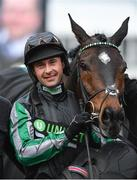 13 March 2019; Jockey Nico de Boinville in the winners enclosure after winning the Betway Queen Mother Champion Chase on Altior on Day Two of the Cheltenham Racing Festival at Prestbury Park in Cheltenham, England. Photo by Seb Daly/Sportsfile