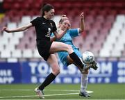 13 March 2019; Meghan Bourke of University College Cork in action against Lauren Kealy of Maynooth University in the WSCAI Kelly Cup Final match between University College Cork and Maynooth University at Seaview in Belfast. Photo by Oliver McVeigh/Sportsfile
