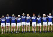 9 March 2019; Limerick players stand for the national anthem during the Allianz Hurling League Division 1 Quarter-Final match between Laois and Limerick at O'Moore Park in Portlaoise, Laois. Photo by Stephen McCarthy/Sportsfile