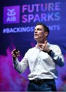 14 March 2019; Peter Cosgrove, Future of Work Expert, speaking at the AIB Future Sparks Festival in the RDS, Dublin. The event saw over 40 leaders in business, sport, music, technology and creative arts meet with 7,500 students from across Ireland inspiring conversation and celebrating the opportunities within their futures with a series of hands-on workshops, inspirational talks and panel discussions with thought leaders from a broad range of industries and disciplines. #backingstudents. Photo by Sam Barnes/Sportsfile