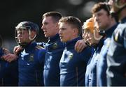 10 March 2019; Tipperary's Brendan Maher stands amongst his fellow substitutes during the national anthem prior to the Allianz Hurling League Division 1A Round 5 match between Cork and Tipperary at Páirc Uí Rinn in Cork. Photo by Stephen McCarthy/Sportsfile