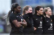 13 March 2019; Vanessa Ogbonna, Chloe Aherne, Kate Connors and Christine Coffey during the WSCAI Kelly Cup Final match between University College Cork and Maynooth University at Seaview in Belfast. Photo by Oliver McVeigh/Sportsfile