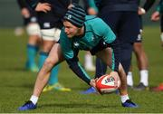 14 March 2019; Kieran Marmion during Ireland rugby squad training at Carton House in Maynooth, Kildare. Photo by Brendan Moran/Sportsfile