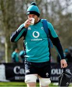 14 March 2019; Peter O'Mahony arrives for Ireland rugby squad training at Carton House in Maynooth, Kildare. Photo by Brendan Moran/Sportsfile