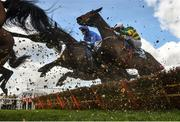 14 March 2019; Sire Du Berlais, with Barry Geraghty up, right, jumps the last first time round on their way to winning the Pertemps Network Final Handicap Hurdle on Day Three of the Cheltenham Racing Festival at Prestbury Park in Cheltenham, England. Photo by David Fitzgerald/Sportsfile
