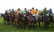 14 March 2019; Runners and riders prior to the Pertemps Network Final Handicap Hurdle on Day Three of the Cheltenham Racing Festival at Prestbury Park in Cheltenham, England. Photo by David Fitzgerald/Sportsfile