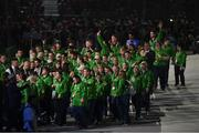 14 March 2019; Team Ireland athletes during the Special Olympic World Games 2019 Opening Ceremony in Abu Dhabi, United Arab Emirates. Photo by Ray McManus/Sportsfile