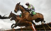 14 March 2019; Faugheen, with Ruby Walsh up, jumps the last first time round during the Sun Racing Stayers' Hurdle on Day Three of the Cheltenham Racing Festival at Prestbury Park in Cheltenham, England. Photo by David Fitzgerald/Sportsfile