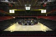 14 March 2019; The Liacouras Center is prepared for the IBF World Super Featherweight Title clash between Tevin Farmer and Jono Carroll in Philadelphia, USA. Photo by Stephen McCarthy/Sportsfile