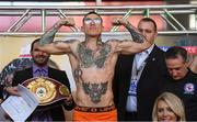 14 March 2019; Gabriel Rosado weighs in head of his middleweight bout with Maciej Sulecki at the Liacouras Center in Philadelphia, USA. Photo by Stephen McCarthy/Sportsfile
