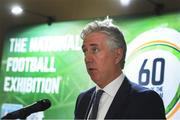 14 March 2019; John Delaney, FAI Chief Executive Officer, during the National Football Exhibition Launch at St. Peter's in Cork. Photo by Eóin Noonan/Sportsfile