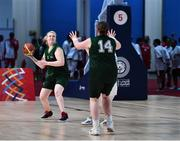 15 March 2019; Team Ireland's Siobhan Dunne, a member of Strabane SOC, from Strabane, Co. Tyrone, in action during the SO Ireland 20-6 win over Kazakhstan basketball game on Day One of the 2019 Special Olympics World Games in the Abu Dhabi National Exhibition Centre, Abu Dhabi, United Arab Emirates. Photo by Ray McManus/Sportsfile
