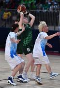 15 March 2019; Team Ireland's Sarah Kilmartin, a member of Athlone SOC, from Athlone, Co. Westmeath, in action during the SO Ireland 20-6 win over Kazakhstan basketball game on Day One of the 2019 Special Olympics World Games in the Abu Dhabi National Exhibition Centre, Abu Dhabi, United Arab Emirates. Photo by Ray McManus/Sportsfile