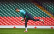 15 March 2019; Jonathan Sexton during the Ireland rugby captain's run at the Principality Stadium in Cardiff, Wales. Photo by Brendan Moran/Sportsfile
