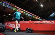 15 March 2019; Rob Kearney arrives for the Ireland rugby captain's run at the Principality Stadium in Cardiff, Wales. Photo by Brendan Moran/Sportsfile