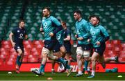 15 March 2019; Tadhg Beirne and James Ryan during the Ireland rugby captain's run at the Principality Stadium in Cardiff, Wales. Photo by Ramsey Cardy/Sportsfile
