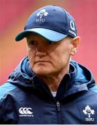 15 March 2019; Head coach Joe Schmidt during the Ireland rugby captain's run at the Principality Stadium in Cardiff, Wales. Photo by Ramsey Cardy/Sportsfile