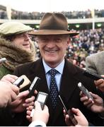 15 March 2019; Trainer Willie Mullins after sending out Al Boum Photo to win the Magners Cheltenham Gold Cup Chase on Day Four of the Cheltenham Racing Festival at Prestbury Park in Cheltenham, England. Photo by David Fitzgerald/Sportsfile