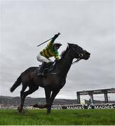 15 March 2019; Jonjo O'Neill Jr celebrates on Early Doors as they cross the line to win the Johnny Henderson Grand Annual Challenge Cup Handicap Chase on Day Four of the Cheltenham Racing Festival at Prestbury Park in Cheltenham, England. Photo by David Fitzgerald/Sportsfile