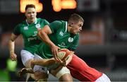 15 March 2019; Scott Penny of Ireland in action against Tomi Lewis of Wales during the U20 Six Nations Rugby Championship match between Wales and Ireland at Zip World Stadium in Colwyn Bay, Wales. Photo by Piaras Ó Mídheach/Sportsfile