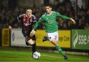 15 March 2019; Shane Griffin of Cork City in action against Danny Grant of Bohemians during the SSE Airtricity League Premier Division match between Cork City and Bohemians at Turners Cross in Cork.  Photo by Eóin Noonan/Sportsfile