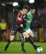 15 March 2019; Danny Grant of Bohemians is tackled by Shane Griffin of Cork City during the SSE Airtricity League Premier Division match between Cork City and Bohemians at Turners Cross in Cork.  Photo by Eóin Noonan/Sportsfile