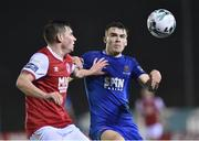 15 March 2019; Aaron Drinan of Waterford FC in action against Kevin Toner of St Patrick's Athletic during the SSE Airtricity League Premier Division match between Waterford and St Patrick's Athletic at the RSC in Waterford. Photo by Matt Browne/Sportsfile
