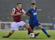 15 March 2019; Scott Twine of Waterford FC in action against Jamie Lennon of St Patrick's Athletic during the SSE Airtricity League Premier Division match between Waterford and St Patrick's Athletic at the RSC in Waterford. Photo by Matt Browne/Sportsfile