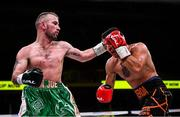 15 March 2019; John Joe Nevin, left, and Andres Figueroa during their lightweight contest at the Liacouras Center in Philadelphia, USA. Photo by Stephen McCarthy / Sportsfile