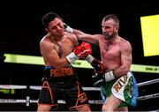 15 March 2019; John Joe Nevin, right, and Andres Figueroa during their lightweight contest at the Liacouras Center in Philadelphia, USA. Photo by Stephen McCarthy / Sportsfile