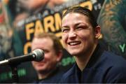 15 March 2019; Katie Taylor during a press conference following her WBA, IBF & WBO Female Lightweight World Championships unification bout with Rose Volante at the Liacouras Center in Philadelphia, USA. Photo by Stephen McCarthy / Sportsfile