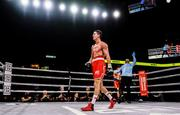 15 March 2019; Luke Campbell, left, walks to the neutral corner during his lightweight contest against Adrian Yung at the Liacouras Center in Philadelphia, USA. Photo by Stephen McCarthy / Sportsfile