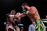15 March 2019; Jono Carroll, right, and Tevin Farmer during their International Boxing Federation World Super Featherweight title bout at the Liacouras Center in Philadelphia, USA. Photo by Stephen McCarthy / Sportsfile