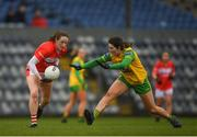 16 March 2019; Áine O'Sullivan of Cork in action against Emer Gallagher of Donegal during the Lidl Ladies NFL Division 1 Round 5 match between Cork and Donegal at Páirc Uí Rinn in Cork. Photo by Eóin Noonan/Sportsfile