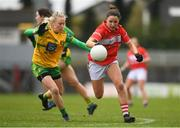 16 March 2019; Eimear Scally of Cork in action against Treasa Doherty of Donegal during the Lidl Ladies NFL Division 1 Round 5 match between Cork and Donegal at Páirc Uí Rinn in Cork. Photo by Eóin Noonan/Sportsfile