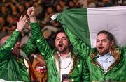 15 March 2019; Irish supporters during the WBA, IBF & WBO Female Lightweight World Championships unification bout between Katie Taylor and Rose Volante at the Liacouras Center in Philadelphia, USA.Photo by Stephen McCarthy/Sportsfile