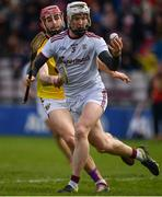16 March 2019; Darren Morrissey of Galway in action against Paudie Foley of Wexford during the Allianz Hurling League Division 1 Quarter-Final match between Galway and Wexford at Pearse Stadium in Salthill, Galway. Photo by Sam Barnes/Sportsfile
