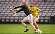 16 March 2019; Fergal Flannery of Galway in action against Lee Chin of Wexford during the Allianz Hurling League Division 1 Quarter-Final match between Galway and Wexford at Pearse Stadium in Salthill, Galway. Photo by Sam Barnes/Sportsfile