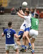 16 March 2019; Conor McCarthy and Michéal Bannigan of Monaghan in action against Raymond Galligan of Cavan, right, during the Allianz Football League Division 1 Round 6 match between Monaghan and Cavan at St Tiernach's Park in Clones, Monaghan. Photo by Oliver McVeigh/Sportsfile