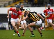 16 March 2019; Conor Lehane of Cork in action against Paddy Deegan of Kilkenny during the Allianz Hurling League Division 1 Relegation Play-Off match between Kilkenny and Cork at Nowlan Park in Kilkenny. Photo by Harry Murphy/Sportsfile