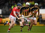 16 March 2019; Conor Lehane of Cork in action against Michael Cody and Paddy Deegan of Kilkenny during the Allianz Hurling League Division 1 Relegation Play-Off match between Kilkenny and Cork at Nowlan Park in Kilkenny. Photo by Harry Murphy/Sportsfile