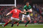 16 March 2019; Jonathan Sexton of Ireland in action against Tomas Francis of Wales during the Guinness Six Nations Rugby Championship match between Wales and Ireland at the Principality Stadium in Cardiff, Wales. Photo by Ramsey Cardy/Sportsfile