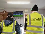 16 March 2019; Stewards watch Galway v Wexford on the television at half-time during the Allianz Hurling League Division 1 Relegation Play-Off match between Kilkenny and Cork at Nowlan Park in Kilkenny. Photo by Harry Murphy/Sportsfile
