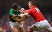 16 March 2019; Jacob Stockdale of Ireland is tackled by George North of Wales during the Guinness Six Nations Rugby Championship match between Wales and Ireland at the Principality Stadium in Cardiff, Wales. Photo by Brendan Moran/Sportsfile