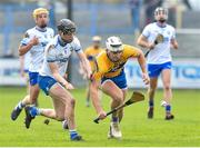 16 March 2019; Aron Shanagher of Clare in action against Callum Lyons of Waterford during the Allianz Hurling League Division 1 Quarter-Final match between Waterford and Clare at Walsh Park in Waterford. Photo by Matt Browne/Sportsfile